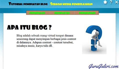 membuat blog untuk pembelajaran aplikasi tutorial belajar membuat blog untuk guru lengkap