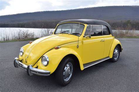volkswagen yellow beetle excellent 1968 volkswagen beetle convertible