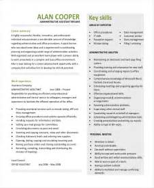 executive assistant resume templates 10 executive administrative assistant resume templates