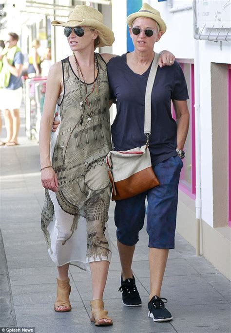 on and portia degeneres and portia de stroll around st barts