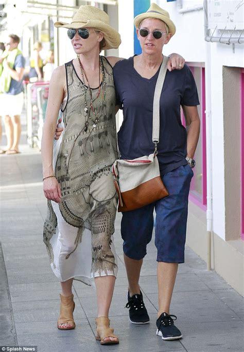 Ellen degeneres and portia de rossi stroll around st barts daily