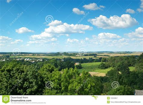 landscape with blue sky royalty free stock photography