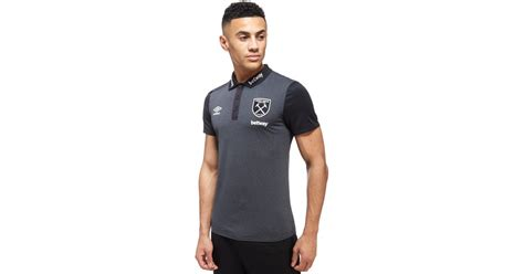 Sweater West Ham United H02 Qlep umbro west ham united poly polo shirt in black for lyst