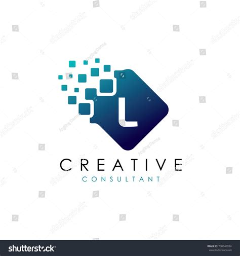 creative l creative l data logo l letter stock vector 700647034