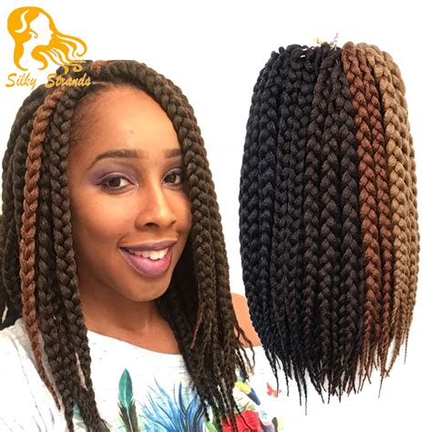box braids with 2 packs of hair wholesale hair synthetic ombre braiding hair crochet box
