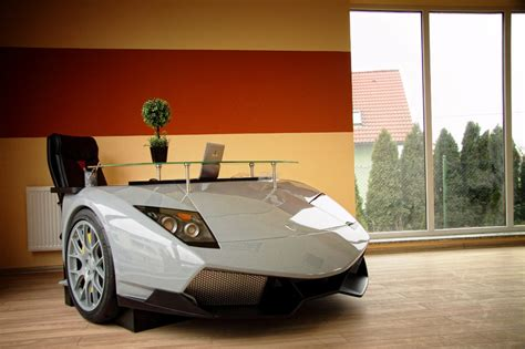 Car Office Desk Lamborghini Bugatti Desks The Awesomer