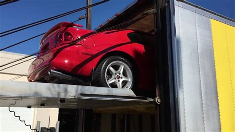 Cobra Auto Transport by Inclosed Transport Of Our 1997 Mustang Cobra Supercharged