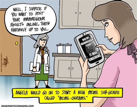 radiology comic mammogram is trending diagnostic imaging