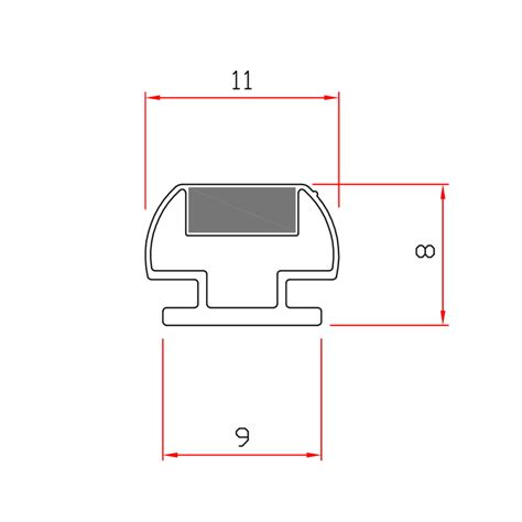 guarnizioni doccia gomma guarnizione magnetica box doccia in gomma ec mag 9 41
