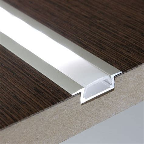 Under Cabinet Led Light Strips by 1m Recessed Flat Aluminium Profile Extrusion