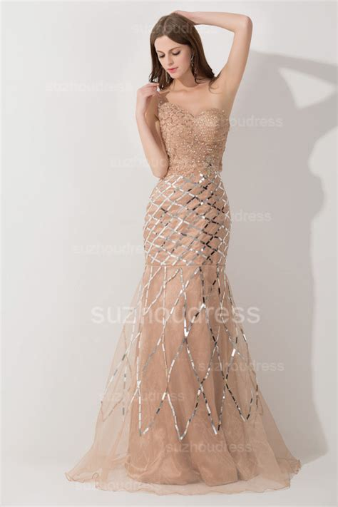 One Shoulder Tulle Elegant Evening Dresses 2018 Mermaid Sequins Prom Gowns Evening Dresses 2018