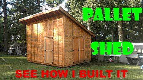 pallet shed workshop build part  youtube