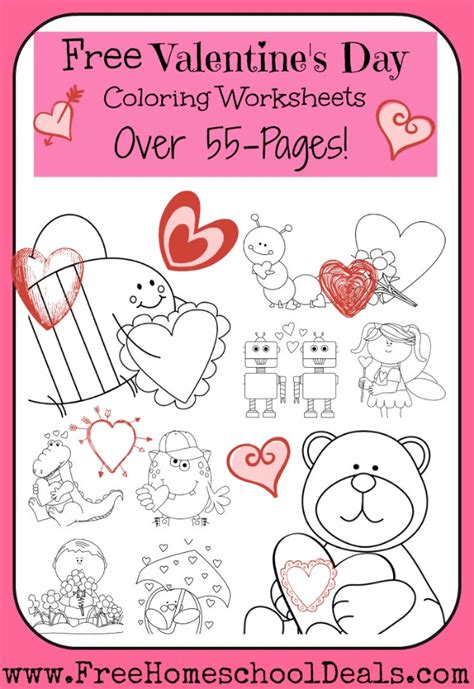 free printable worksheets valentine s day free valentine s day coloring worksheets 55 pages free