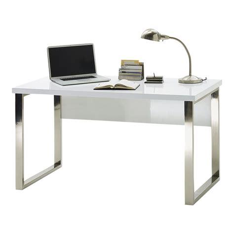 scrivania laccata scrivania sydney 1 laccata bianco lucido e gambe in
