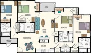 4 bedroom floor plan floor plans hasbrouck managementhasbrouck management