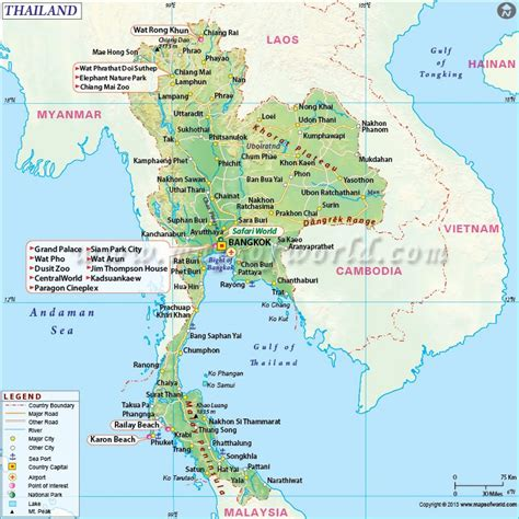 map of thailand country buy thailand country map