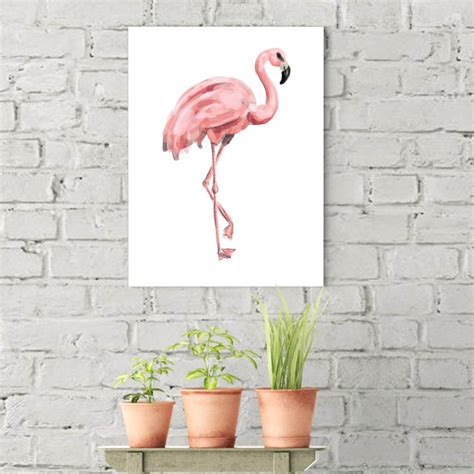 jetty home 8 in x 10 in quot pink flamingo quot printed wall