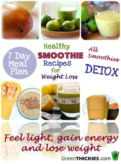 Detox Smoothie Meal Plan by Healthy Meal Plans For Weight Loss 2 Healthy Smoothie