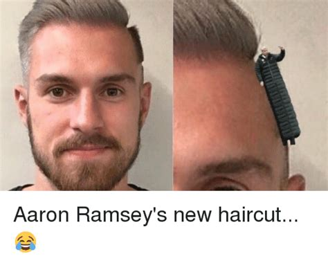 New Haircut Meme - aaron ramsey s new haircut haircut meme on me me