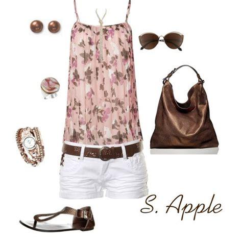 Senshukei Denim Top Brown Denim Set Belt Pink And Brown Summer Polyvore Tank Top White