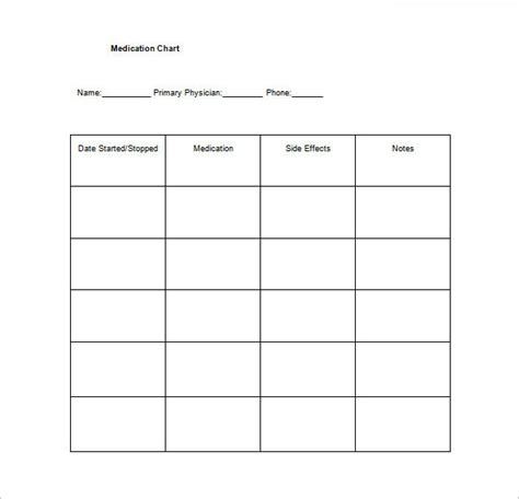 house chart template medication chart template 8 free word excel pdf