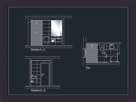 toilet section dwg bathroom dwg section for autocad designscad