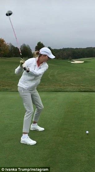 donald trump golf swing ivanka trump shows off golf swing during a trip to the