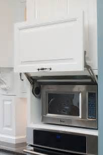 Microwave In Kitchen Cabinet Microwave Hideaway Cabinet For The Home