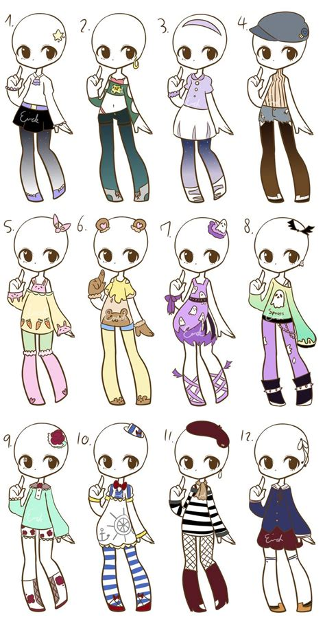 Outfit Adopts Closed By Lukasb Adopts Deviantart Com On How To Draw Chibi Boy Clothes Free