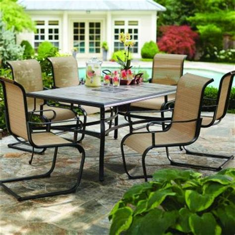 hton bay belleville 7 patio dining set fcs80198st