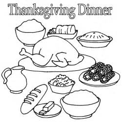 Thanksgiving Day Dinner Coloring Page sketch template