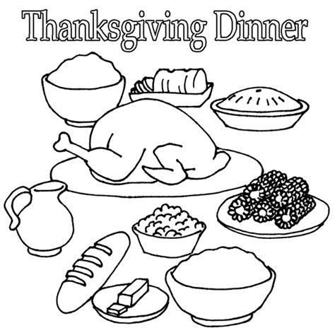 coloring page of thanksgiving dinner thanksgiving dinner coloring pages printables happy