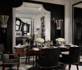 Black Dining Rooms your hollywood home happily ever dining