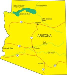 arizona map state az map arizona state map