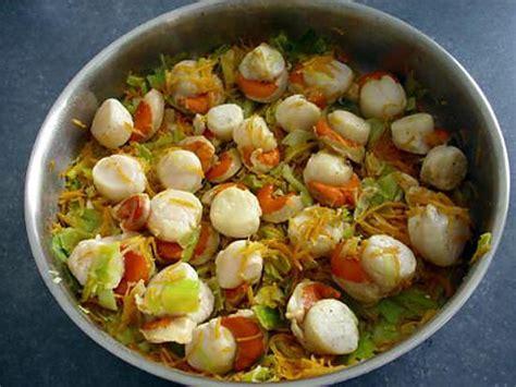cuisiner noix de jacques surgel馥s recette de julienne de legumes et noix de jacques