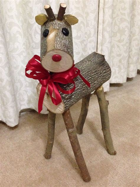 diy decorations reindeer my log reindeer my rudolf and my most favorite of the 4 my fall projects for
