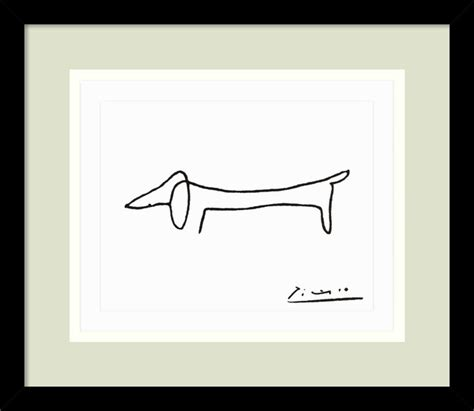 picasso paintings to print le chien the framed print by pablo picasso