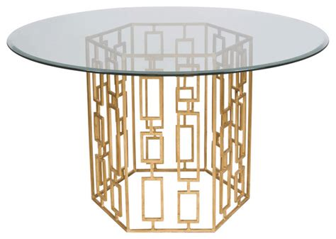 gold base dining table away gold leaf dining table base with 48 quot dia glass