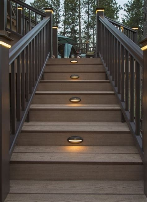 outdoor lighting stairs outdoor stairs lighting timbertech deck lighting pictures