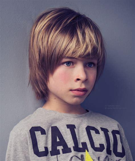 Medium long hair with bangs for boys