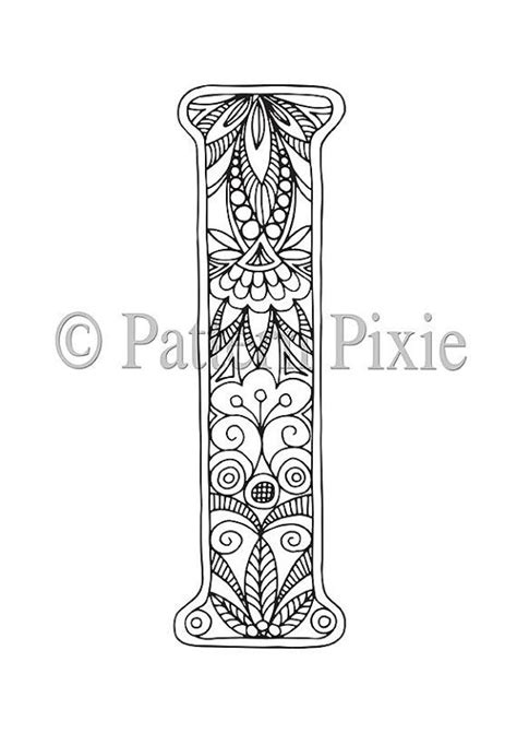 letter i coloring pages colouring page alphabet letter quot i quot mandala