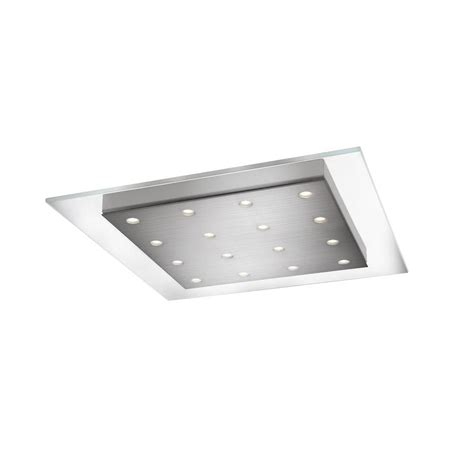 Philips Led Lighting Fixtures Philips Matrix 16 Light Brushed Nickel Led Ceiling Fixture With Integrated Flush Clear Glass