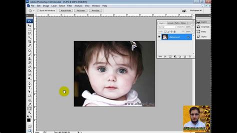 adobe photoshop cs3 tutorial in hindi how to change eyes tie shirt and background color in