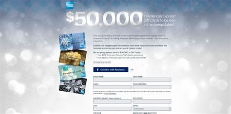 Register An American Express Gift Card - american express gift card sweepstakes 50 000 in gift cards