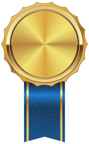 ribbon png ribbons and gold on pinterest gold medal with blue ribbon png clipart image clipart