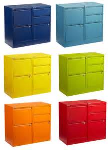 Colored File Cabinets A Rainbow Of File Cabinets Shoplet