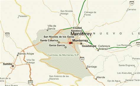 map of monterrey mexico monterrey location guide