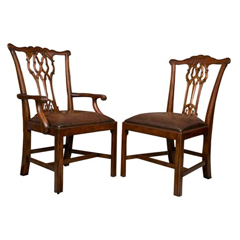 10 Dining Chairs Set Of Ten Chippendale Style Dining Chairs For Sale At 1stdibs