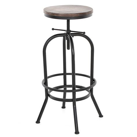 Industrial Style Adjustable Bar Stools by Industrial Style Height Adjustable Swivel Bar Stool