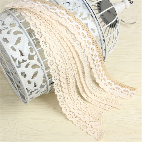 Diy Ribbon Lace Baker S Twine 18 10yard lot cotton lace trim clothing decorative ribbon home diy sewing wedding crafts decoration